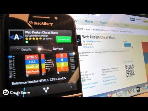 Web Design Cheat Sheet For BlackBerry 10