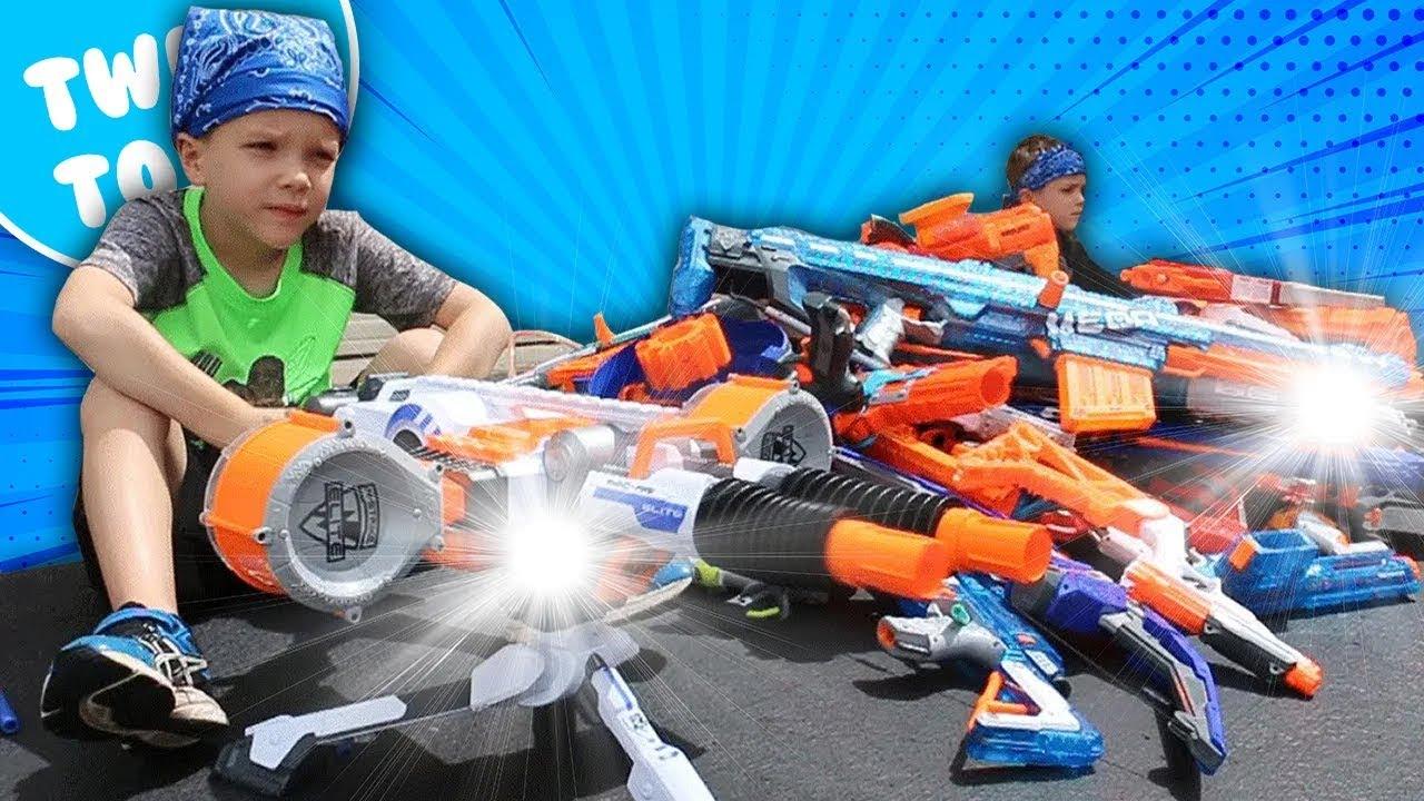 Nerf Toys For Boys : Nerf war boys vs girls behind the scenes youtube