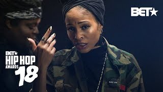 Bri Steves Sharaya J Neelam Hakeem And More Shake Up The Cypher Game  Hip Hop Awards 2018 Cypher