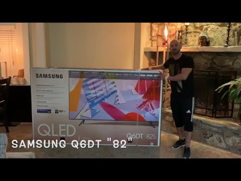 """82"" 4k Samsung tv Q6DT-LED. un sueño hecho realidad, unboxing. I got my Samsung ""82"" tv Q6DT-LED"