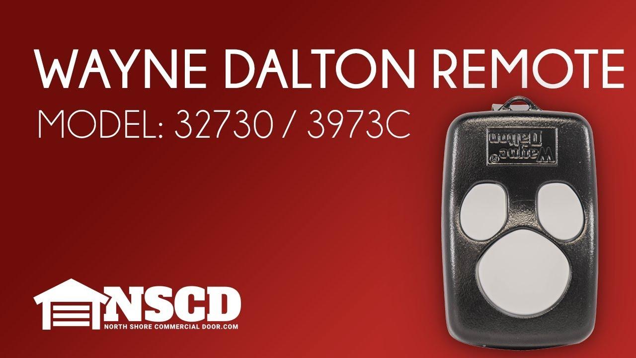 small resolution of wayne dalton garage door opener 3 button remote model 327310 3973c