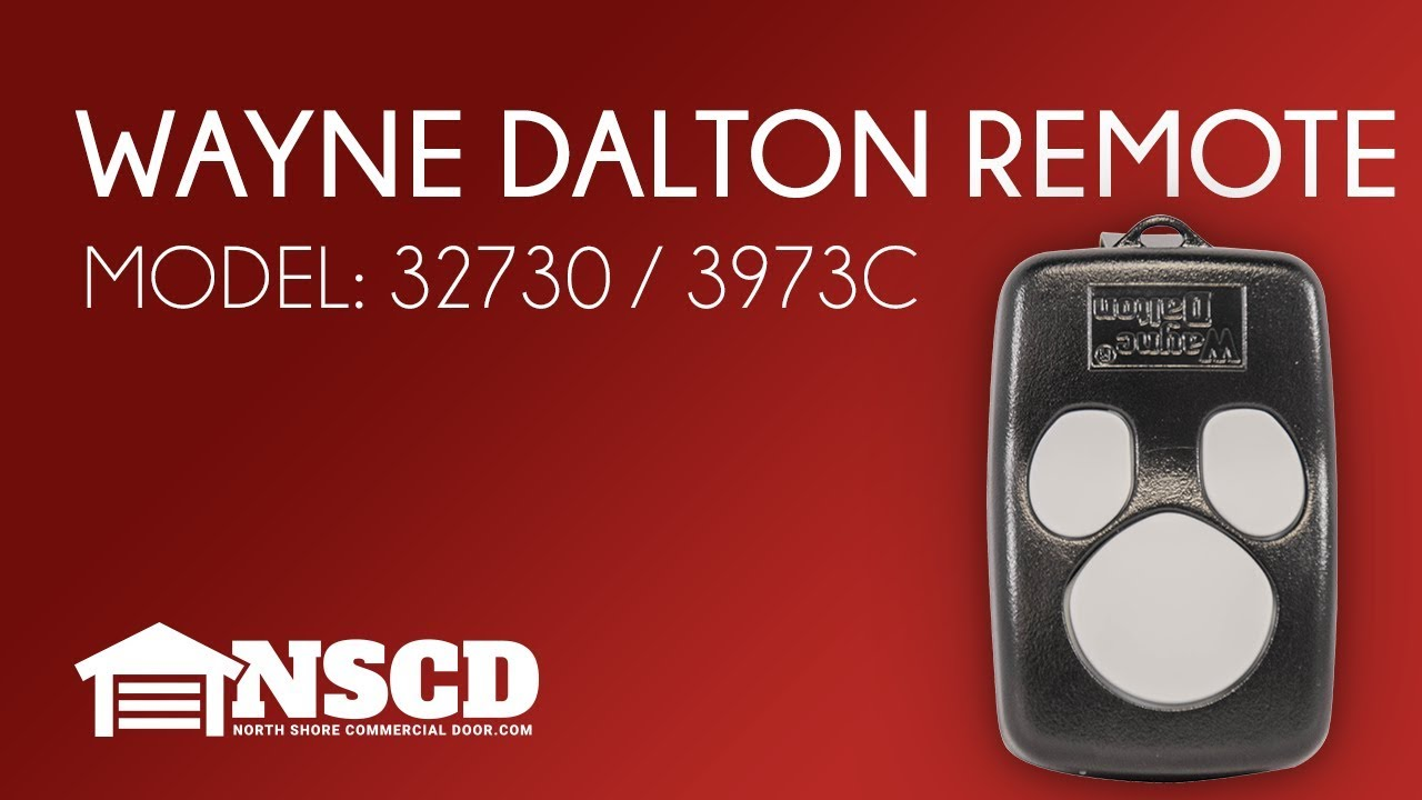 wayne dalton garage door opener 3 button remote model 327310 3973c [ 1280 x 720 Pixel ]