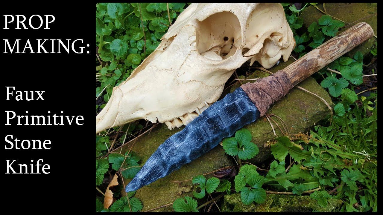 Primitive Knife Props Making A Primitive Knife Youtube