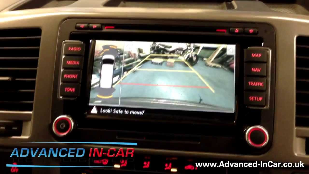 VW Transporter / Caravelle 7E0 - Rear View Camera Retrofit - VW Reversing  Camera With Guidelines