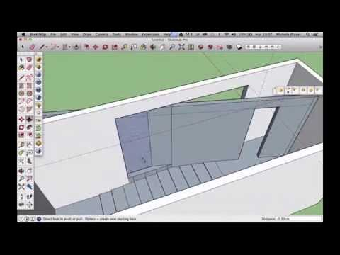 Church of light 2- making the 3d model in sketchup