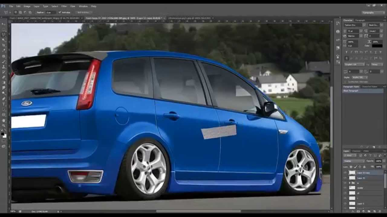 ford c max virtual tuning photoshop youtube. Black Bedroom Furniture Sets. Home Design Ideas