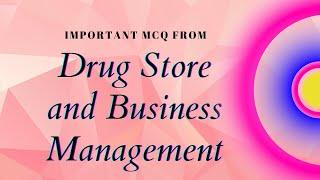 DSBM - MCQ, Second Year, Diploma Pharmacy ( Part- l)