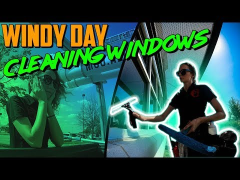 Cleaning Windows In High Winds