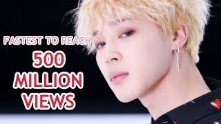FASTEST K-POP GROUP MV TO REACH 500 MILLION VIEWS