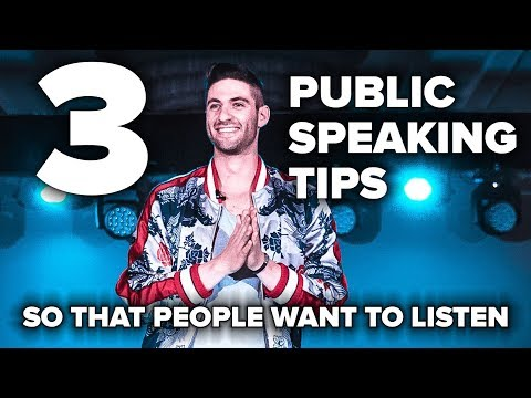 3 Public Speaking Tips So That People Want To Listen