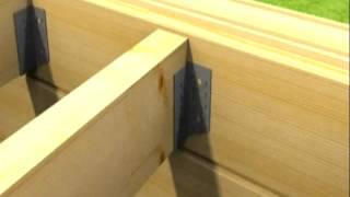 Опора бруса открытая и закрытая: монтаж (фото, видео)