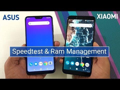 Asus Zenfone Max Pro M2 vs Mi A2 Speed Test & Ram Management Test