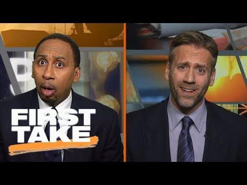 Stephen A. and Max have heated exchange arguing Deshaun Watson or Dak Prescott | First Take | ESPN