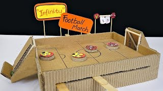 how to make a football game from cardboard