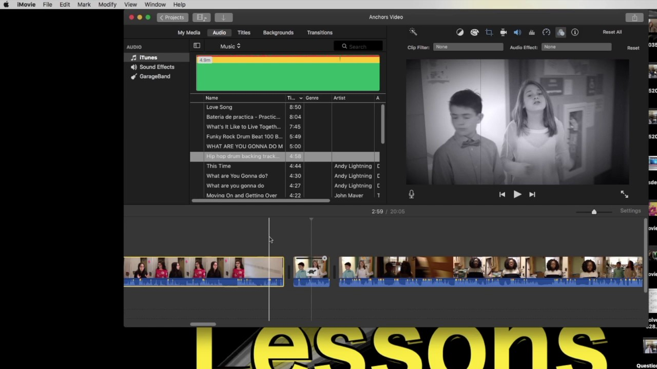 How to add an Imovie Video Filter to a Video Clip