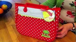 Girl's Polkadot Bicycle Pannier Bag