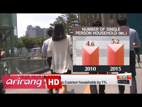 South Korea's population now over 50 million, but a significant number of residents lives alone