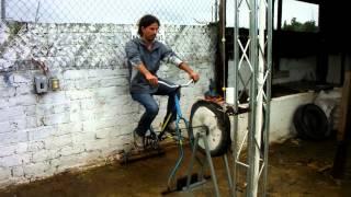Bici bomba de mecate o de soga o de rosario en GIRA Patzcuaro