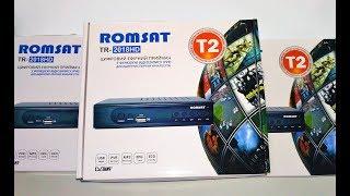 Romsat TR-2018HD - видеообзор, подключение и настройка Т2 тюнера