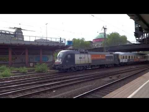 Hamburg Germany Hauptbahnhof HKX Passenger Train Jun 2013