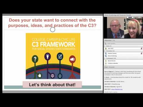 Using the C3 Framework to InformState Policies and Practices