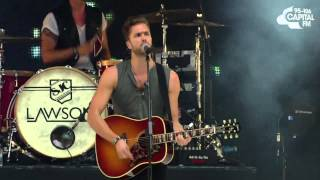 lawson standing in the dark summertime ball 2013
