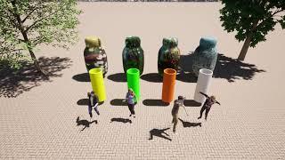 Art 8   Media Art - City in a Jar: Spring, Summer, Fall, Winter
