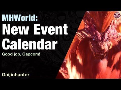 Monster Hunter World: Event Quest Calendar