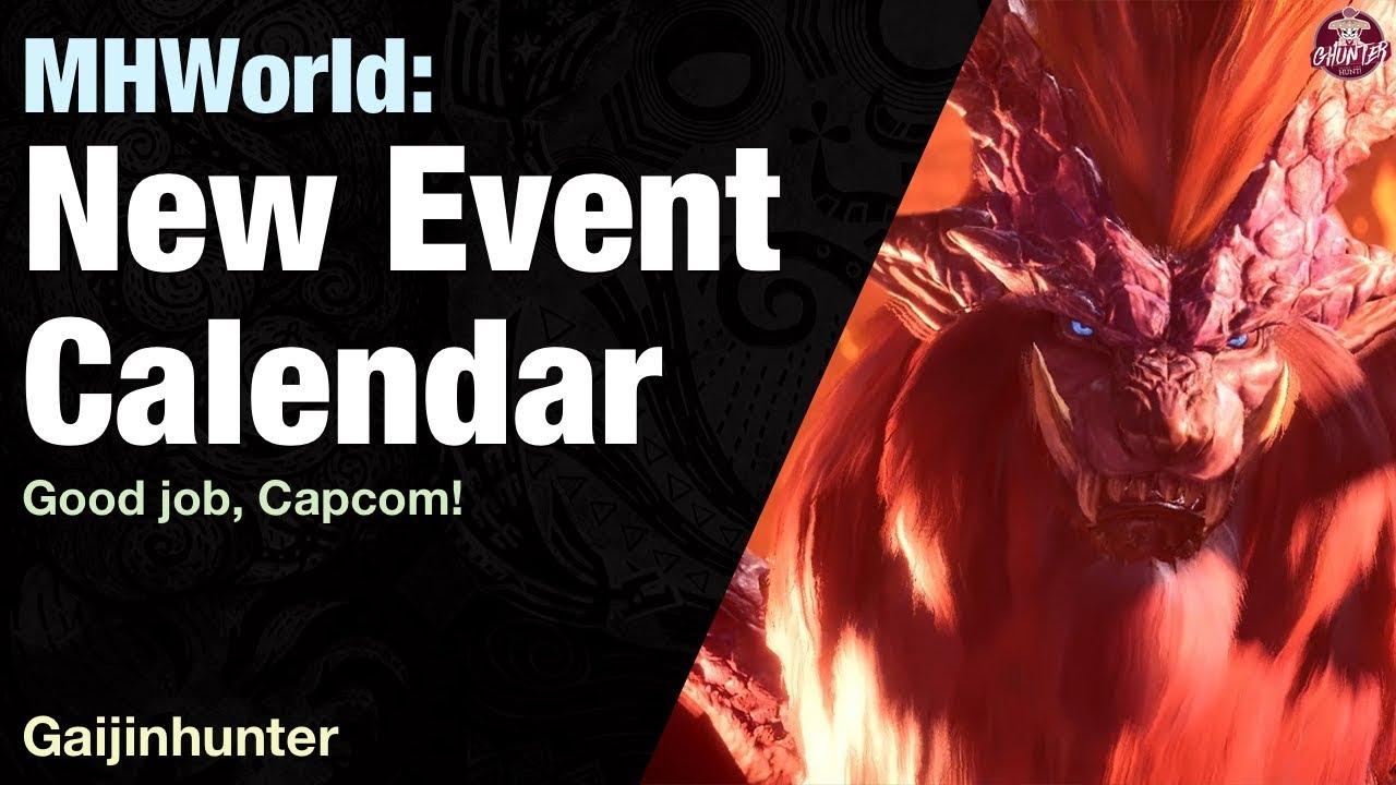 Mhw Calendrier.Monster Hunter World Event Quest Calendar