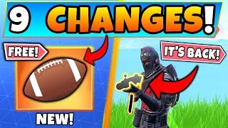 Fortnite Update: *FREE* PIGSKIN TOY + UN-VAULTED WEAPON! - 9 Secret CHANGES in Battle Royale!