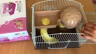 Хомячки джунгарики. Наши новые питомцы! Собираем клетку для хомячков.