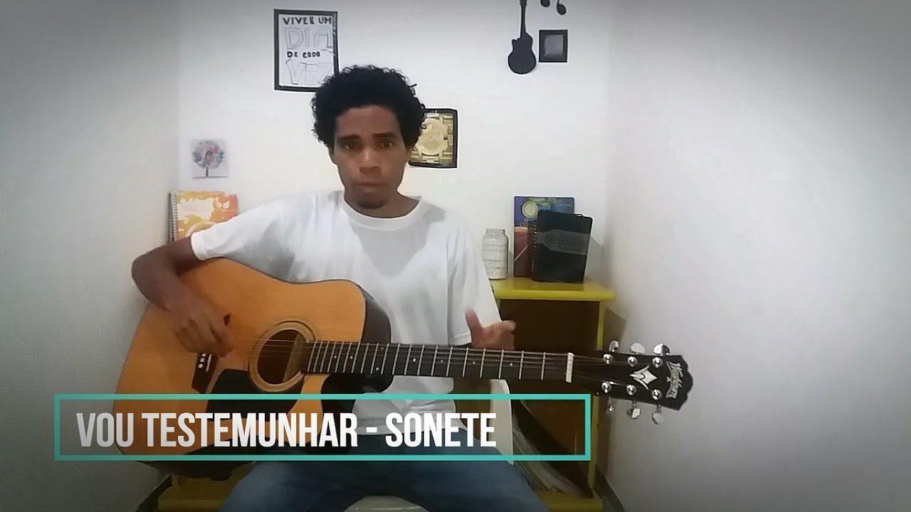 musica vou testemunhar do amor sonete