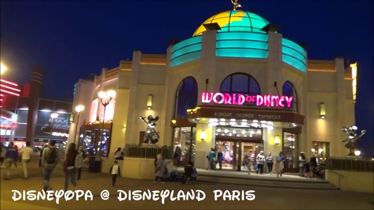 disneyland paris walkthrough disney village am abend 2017 disneyopa youtube. Black Bedroom Furniture Sets. Home Design Ideas