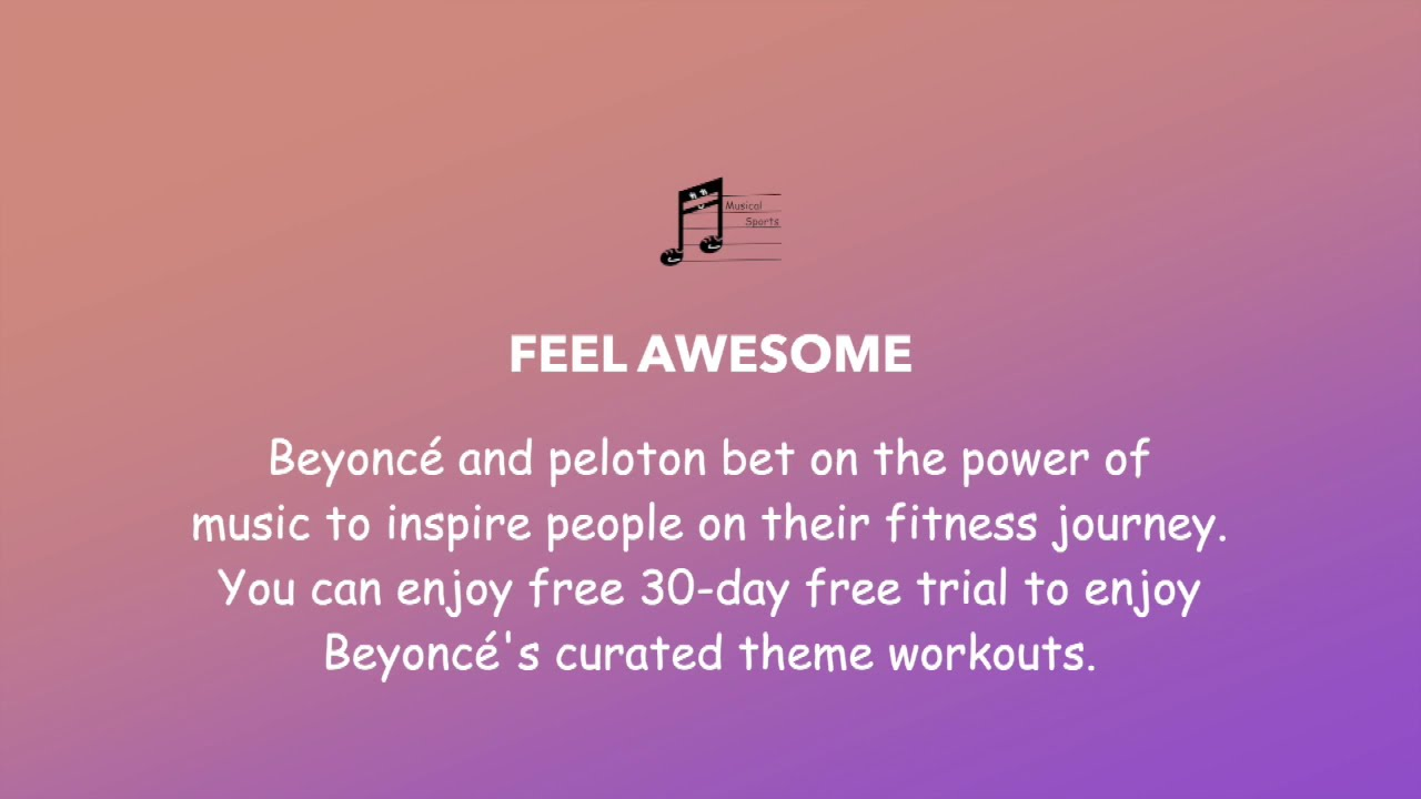30-day Free Theme Workouts by Beyonce | Let's Get Musical
