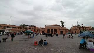 Jemaa El Fnna Main Square In Marrakech Morocco ساحة جامع الفنا في مراكش المغرب