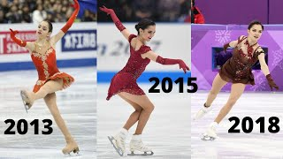 Evgenia MEDVEDEVA s DOUBLE AXEL 2A Progress Over Time Евгения Медведева