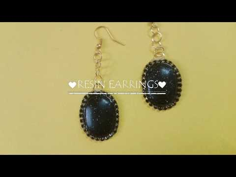 How to make resin earrings /resin jewellery/ resin earrings tutorial  #resin #resin_jewellery