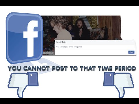 @Facebook - Invalid Date You cannot post to that time period, Image editing