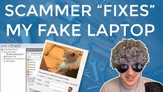 "Scammer ""Fixes"" My Fake Laptop ( Notepad Script )"