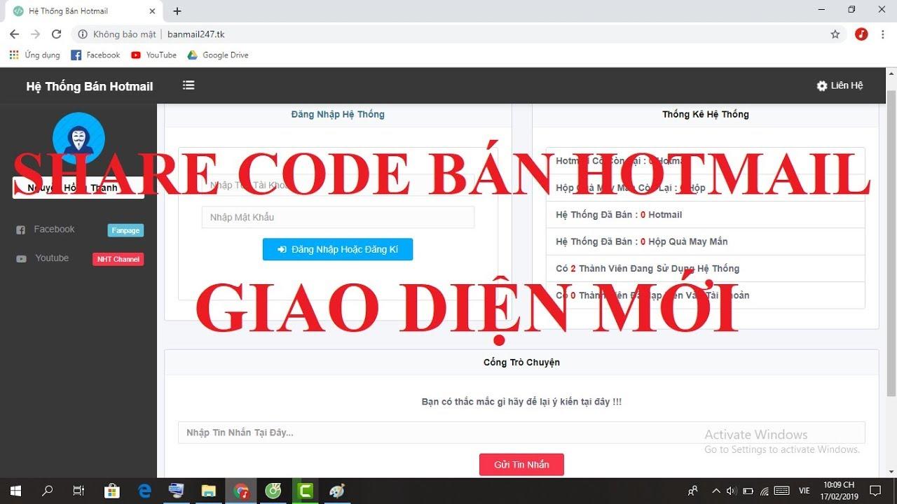 Kết quả hình ảnh cho code shop bán hotmail
