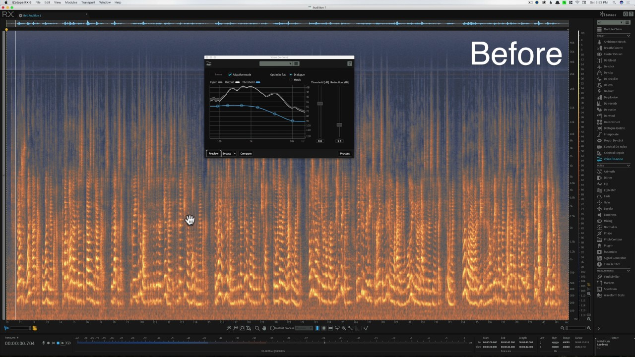 Sound for Video Session: Reduce Reverb with Izotope RX 6