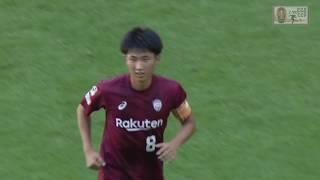 2018年11月3日(土)に行われたJユースカップ 準々決勝 広島ユースvs神...