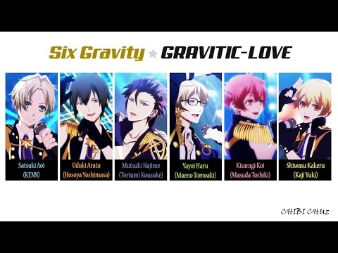 [TSUKIUTA] GRAVITIC-LOVE - Six Gravity (Lyrics)