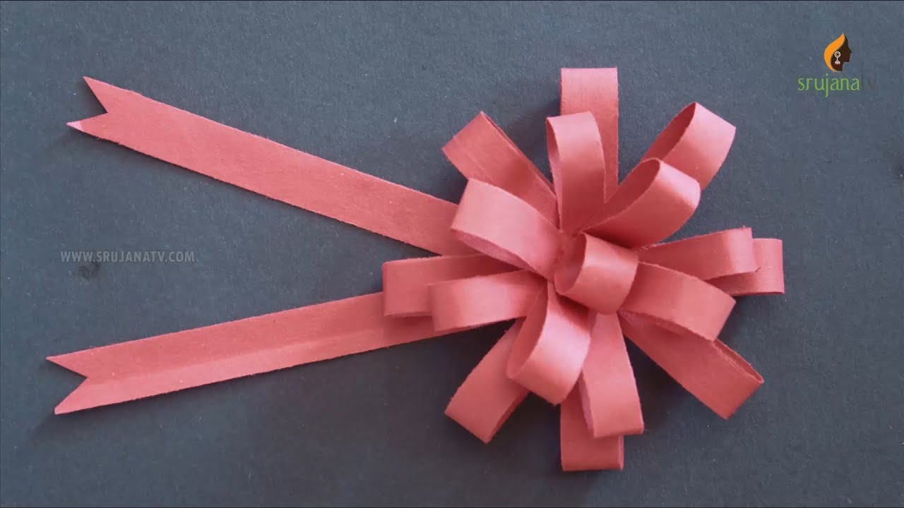 Diy Paper Bow In Paper Crafts By Srujanatv Youtube