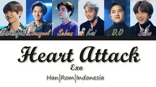 EXO (엑소) - Heart Attack [Han/Rom/Indo] Color Coded Lirik Terjemahan Indonesia