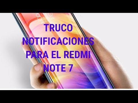 REDMI NOTE 7 TRUCO NOTIFICACIONES