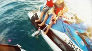 6 Year Old Twins Jet Ski Fishing Alone