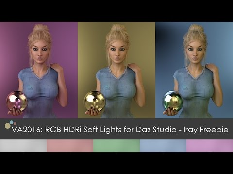 ArtStation - VA2016: RGB HDRi Soft Lights for Daz Studio - Iray