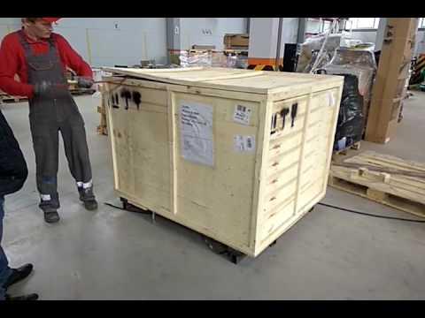 Упаковка станка Gard 9060 в транспортной компании DPD / Купить лазерный станок