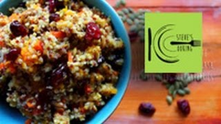 Red & White Quinoa With Roasted Squash, Pumpkin Seeds & Cranberries (stevescooking)